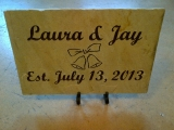 <h5>Engraved Wedding Stone Sign</h5><p>Engraved Personalized Wedding Stone Sign</p>