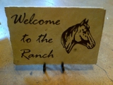 <h5>Ranch Welcome Etched Stone</h5><p>Ranch Welcome Personalized Etched Stone</p>
