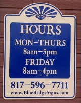 <h5>Office Hours Sign</h5><p>Commercial, Business Exterior Sign</p>