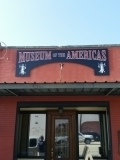 <h5>Museum of The Americas New Sign</h5><p>MDO Plywood, Outdoor Sign, Custom Shaped Sign</p>