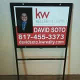 <h5>David Soto Real Estate Sign</h5><p>Real Estate, Yard Metal Sign</p>