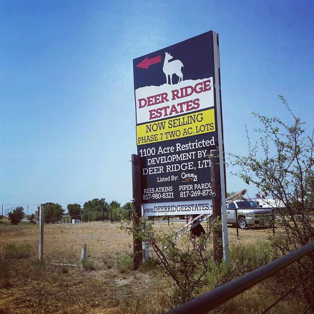 Blue Ridge Signs Deer Ridge Estates New Phase Blue