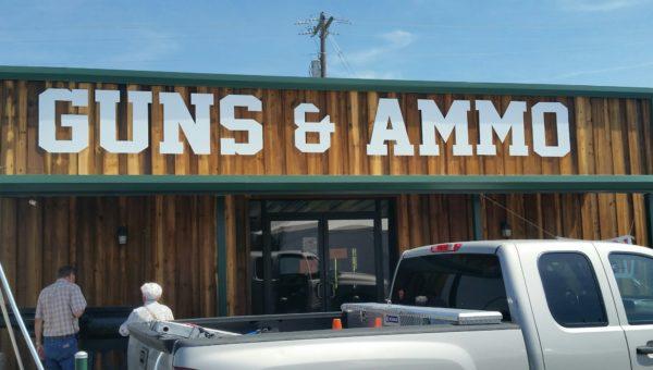 Teskeys Guns Ammo Sign