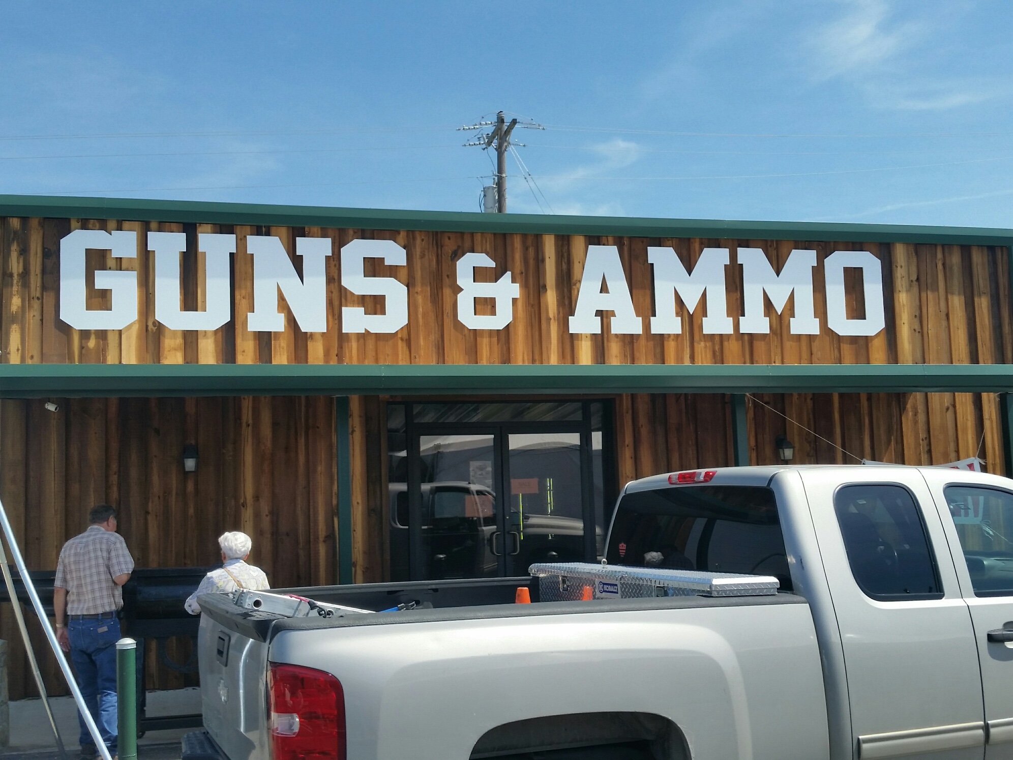 Teskeys Guns Ammo Sign