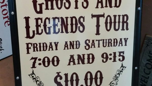 Granbury Ghost Tour Sign