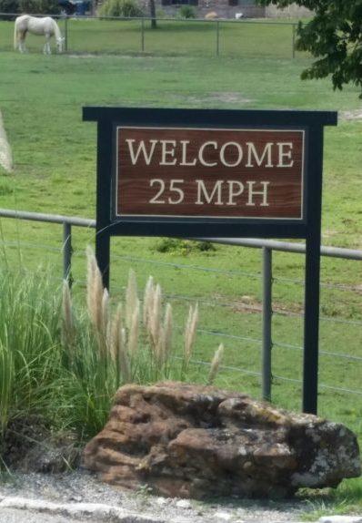 West Hills Redwood Sign