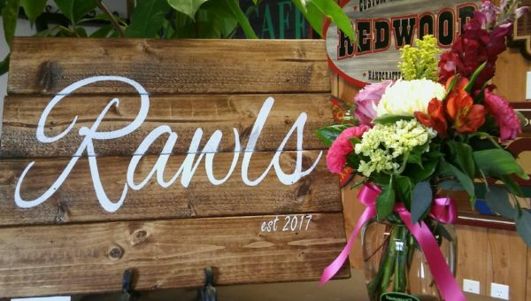 custom rustic wood sign