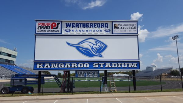 Weatherford Roos Sign