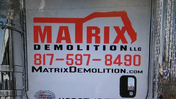 matrix demolition lettering